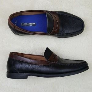 Florsheim Mens Leather Cricket Penny Loafer Sz 9.5